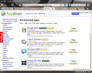 AppBrain screenshot