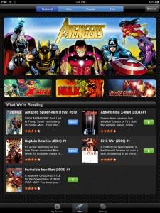 Marvel Comics for iPad