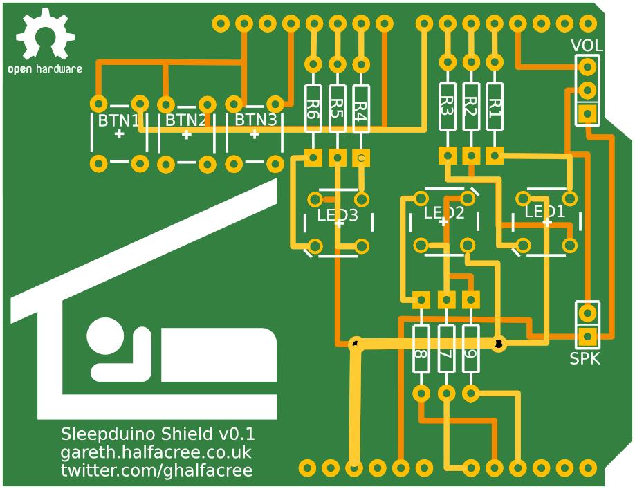 Sleepduino PCB